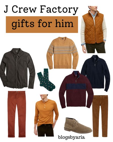 My husband loves j crew factory clothes so they're always a go to for gifts for him #giftguide #giftsforhim #guysgiftguide #mensgiftguide  #LTKsalealert #LTKGiftGuide #LTKmens