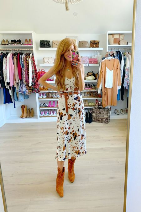 Comfy midi dress, 25% off for ltk sale! Love the animal print- so cute for Fall   #LTKSale #LTKunder100 #LTKshoecrush