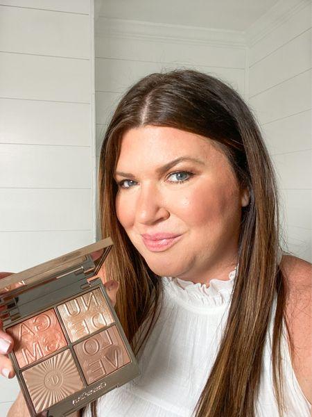 Easy everyday makeup using the same palette for face and eyes.  @ctilburymakeup Nudegasm Face Palette #charlottetilbury #everydaymakeup #ltkbeauty #naturalmakeup  #LTKbeauty