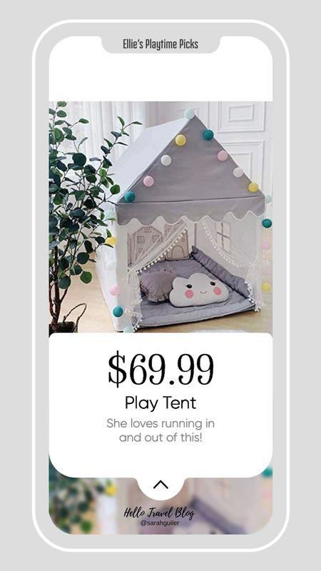 Playroom. Playhouse. Play tent. Amazon finds. Toddler room. Baby room.   #LTKunder100 #LTKkids #LTKbaby