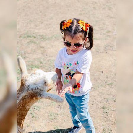Kids fashion, kids ootd, t-shirt, jeans, fall clothing, children fashion, children outfit  #LTKkids #LTKGiftGuide #LTKunder50
