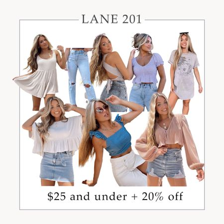"""$25 and under sale today at Lane201!! + you can use my code """"KELSEY20"""" for an additional 20% off 👏🏼  Lane 201 boutique, sale, summer outfits, summer tops, summer dresses, fall outfits  #LTKwedding #LTKunder50 #LTKsalealert"""