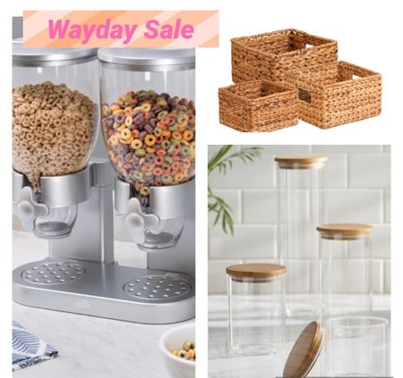 So who doesn't love organizing their house and finding great items to organize with?!! That's me to and I got you covered with this cereal organizer, beautiful weave baskets and these glass jars.   #LTKsalealert #LTKhome #LTKunder50