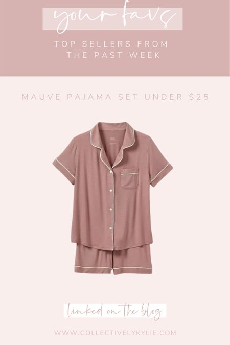 The perfect affordable pajama set coming in at under $25! Such a great gift idea for anyone on your list. Love this pretty mauve! http://liketk.it/33onq #liketkit @liketoknow.it #LTKgiftspo #StayHomeWithLTK #LTKunder50