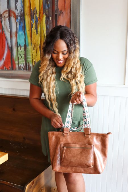 What's Summer without a super cute Shirt Dress?☀️ I stopped by Walmart and picked up the cutest little dress and bag for under $30!  Walmart has an amazing assortment of trendy dresses and stylish handbags at prices that you can afford.  Check out my favorites. http://liketk.it/3jCON #liketkit @liketoknow.it #LTKunder50 #LTKunder100 #LTKitbag #walmartfashion