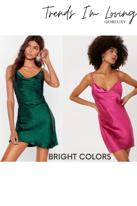 Satin dresses  Summer dresses  Summer outfit  Vacation outfit  Date night outfits  Pink dress Green dress   Follow me on my IG @drluxy to get more style inspo http://liketk.it/3jnzv #liketkit @liketoknow.it You can instantly shop my looks by following me on the LIKEtoKNOW.it shopping app     #LTKtravel #LTKunder50 #LTKstyletip