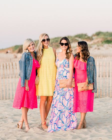 Four's company 🎀 Having the best time with these wonderful ladies! Yesterday included a tour of the @lillypulitzer cottage at @whiteelephantdesigns 🐘 a luxury yacht ride around the island 🛥 an ice cream stop at @nantucketjuicebar 🍦 and the most amazing sunset dinner at @galleybeach 🌅 See it all on Insta Stories! Today, we're heading on a long bike ride through town 🚲 a tour of Sconset 🌸 and dinner at @thewauwinet 💚💚 #lillypulitzer #whiteelephant #summerinlilly #thatnantucketfeeling Outfit details via @liketoknow.it http://liketk.it/2w7mq #liketkit