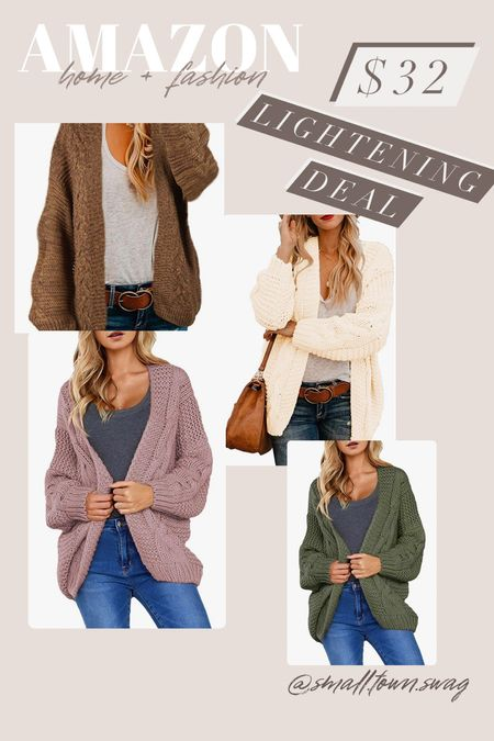 Amazon Lightening Deal — I'm loving all the colors they have! . . . . . .  Amazon sweater // sweaters oversized sweater // Amazon fashion // Amazon deals // Amazon finds // Amazon clothes // fall outfit // fall outfits // gifts for her // sweaters // striped sweater // cardigan // cardi // Amazon cardigan //open front sweater // mock neck sweater // knit sweater // mock neck // mock neck sweater   #LTKHoliday #LTKSale #LTKGiftGuide
