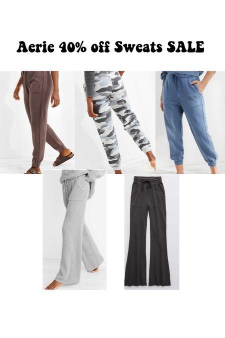 Aerie 40% off sweatpants sale!   #LTKsalealert #LTKtravel #LTKSale