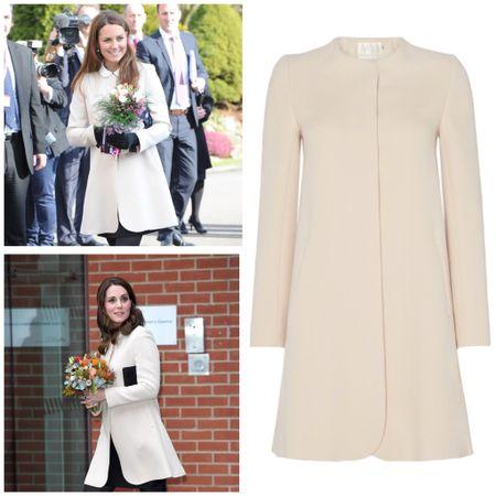 Kate wearing Goat Redgrave coat #winter   #LTKbump #LTKstyletip