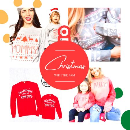 Cute Christmas Outfits For The Whole Family! Get in the holiday spirit with fun festive outfits! Matching Christmas sweaters and pjs!   #LTKgiftspo #LTKhome #LTKunder100