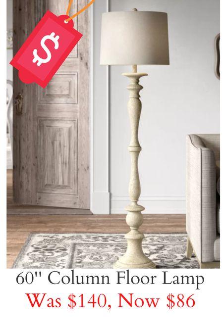 """60"""" column floor lamp on sale for Memorial Day! Love the carpentry in this lamp!   #LTKunder100 #LTKhome #LTKsalealert"""