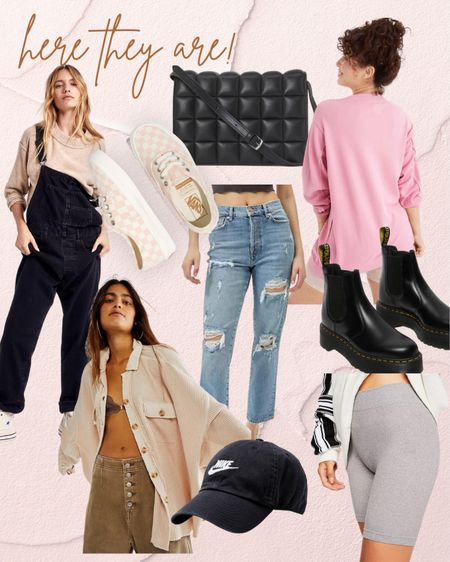 Fall styles Outfit ideas Overalls Chelsea boots Quilted crossbody Oversized Shacket Fall outfit ideas   #LTKshoecrush #LTKunder100 #LTKSeasonal