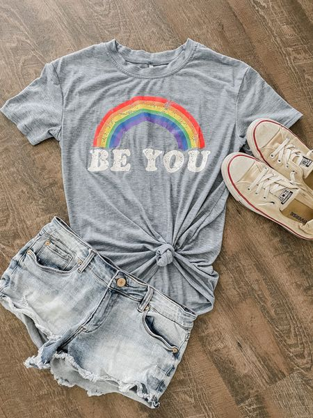 The perfect shirt for pride month. We hope you get to be you- loudly, boldly, unapologetically you.   #LTKunder100 #LTKunder50