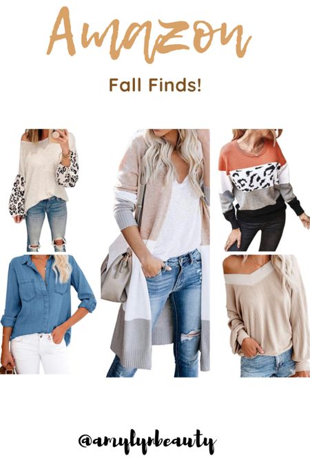 Fall Amazon finds! Cardigans and pull over sweaters!   #StayHomeWithLTK #LTKunder50 #LTKstyletip