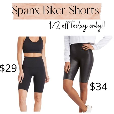 Flash sale at Spanx!  Biker shorts are 1/2 off, 24 hours only!    I wear medium for reference.   Faux leather leggings | workout shorts | gear | look at me now seamless | Camo    Shop your screenshot of this pic with the LIKEtoKNOW.it shopping app http://liketk.it/3eKnA #liketkit @liketoknow.it #LTKunder50 #LTKsalealert #LTKfit