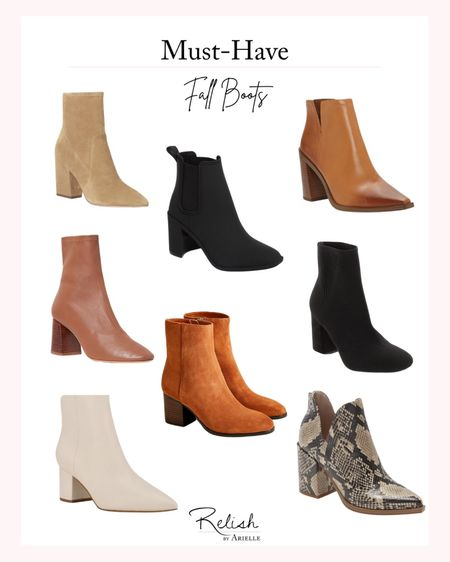 Must-Have Fall Boots - Fall booties, short boots, neutral boots, snakeskin boots, white booties, ankle boots, fall fashion, fall outfit inspiration, trending boots, women's boots   #LTKSeasonal #LTKshoecrush #LTKstyletip
