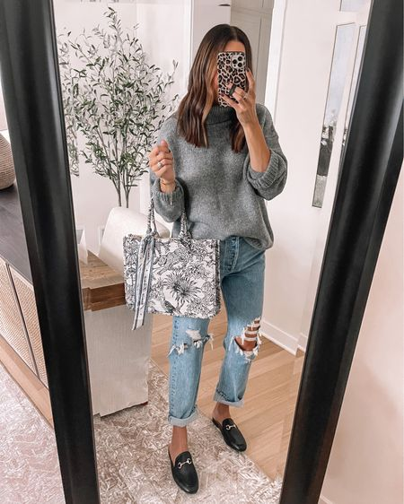 Goodnight Macaroon 40% off = TAYLOR40 Cowl neck sweater: one sized  Mules / loafers: size up  Christian Dior lookalike tote  - Agolde Jeans: size down   #LTKshoecrush #LTKSeasonal #LTKitbag