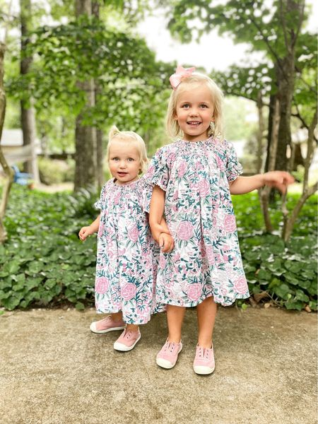 Sneakers are from Jenzy and code KATIEVAIL saves you 10%. Dresses are Madison Mathews and code KATIE saves you 10%!  #LTKkids