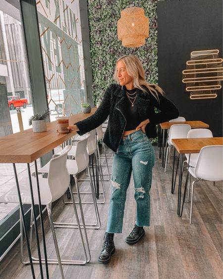 coffee run outfit of the day for a chilly day in the city ✨☕️ cheers! http://liketk.it/3dyfz #liketkit @liketoknow.it #ootd #springstyle #springfashion #coffeehouse #coffee