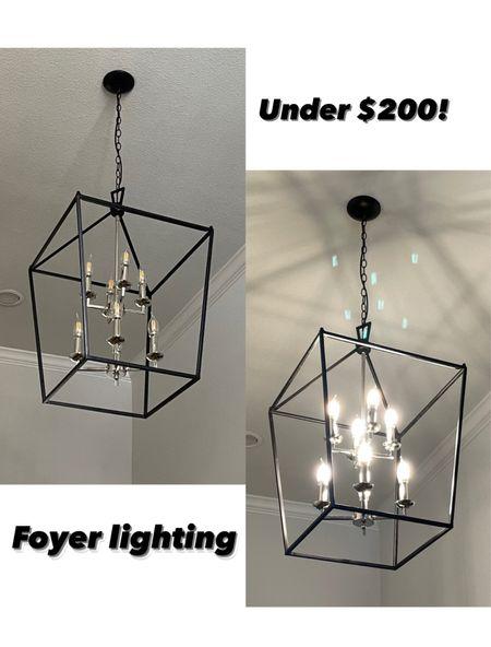 Foyer lighting for under $150! Home decor   #LTKstyletip #LTKhome #LTKsalealert