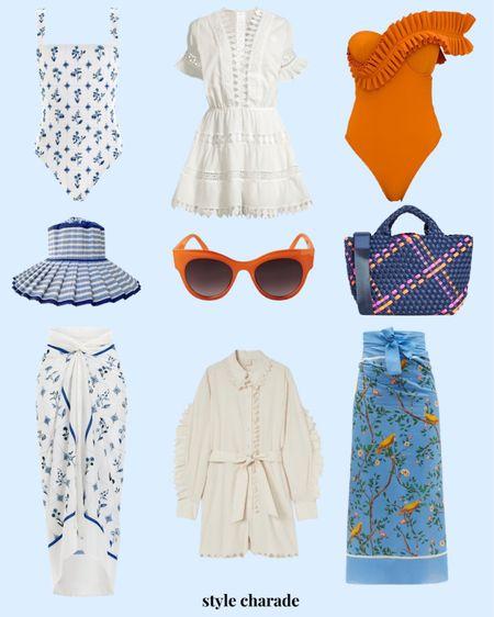 Vacation outfits, swimsuits, women's beach outfits, beach accessories, summer outfits   #LTKstyletip #LTKsalealert #LTKSeasonal