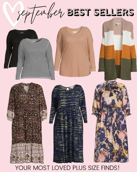These were the top selling plus size fashion favorites last month! These are all perfect for building a perfect plus size fall outfit for any occasion!   #LTKcurves #LTKstyletip #LTKunder50