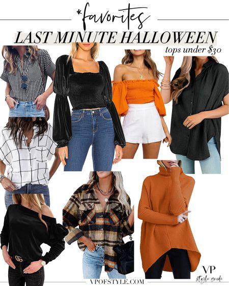 Last minute Halloween outfit ideas with these under $30 tops    #LTKstyletip #LTKunder100 #LTKunder50
