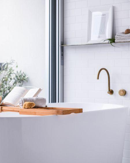 Create your very own spa retreat by using  a beautiful bath tray. @liketoknow.it.family @liketoknow.it.home #StayHomeWithLTK #LTKstyletip #LTKunder100 #bathtray #bathroom #bathdecor #neutralhome http://liketk.it/39xBj #liketkit @liketoknow.it Shop my daily looks by following me on the LIKEtoKNOW.it shopping app