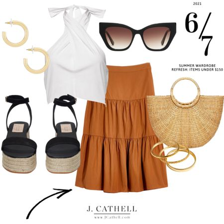 """I typically lean towards high/low outfits but really wanted to go with a wardrobe overhaul using items within a set budget. You'll still find a high/low within this post but the max an item will be is $150! Which of the 7 looks is your favorite?   Shop each look on the @liketoknow.it  app under """"J.Cathell"""" or find this outfit here- http://liketk.it/3gW66      . I also found that a few of the sales from Memorial Day are still going so shop them before it's all gone! #liketkit #LTKstyletip #LTKunder100 #LTKsalealert"""