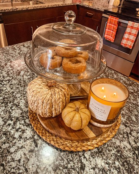 Is it really Fall without at least 1 pumpkin, a Fall scented candle AND Trader Joe's apple cider donuts on display?   #LTKHoliday #LTKstyletip #LTKSeasonal
