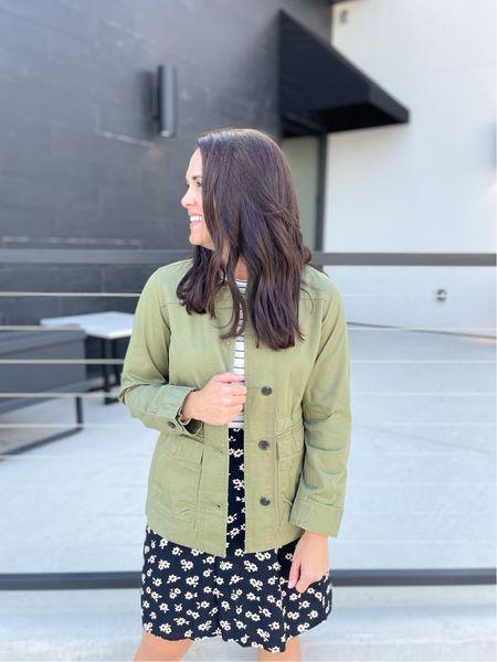 Olive green field jacket - XS (sized down for a tailored fit) #freeassembly #walmartfashion    #LTKunder50 #LTKstyletip #LTKSeasonal
