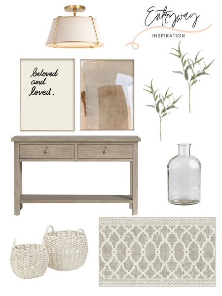 Entryway home decor inspiration! Make a statement with these beautiful neutral home decor finds. The Pottery Barn console table is one of my favorites! Shop the look: http://liketk.it/3gWgU #liketkit @liketoknow.it @liketoknow.it.home @liketoknow.it.family #LTKstyletip #LTKhome