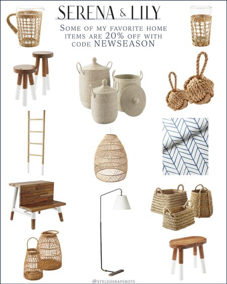 Serena & Lily is 20% off sitewide with code NEWSEASON and includes the La Jolla Baskets// linked some of my favorites that I personally own and love #homedecor  #LTKhome #LTKsalealert