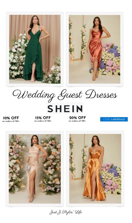 Find the perfect wedding guest dress at SheIn! All dresses are $25 and under! These satin midi and maxi dresses are perfect for fall weddings. Use code LABORSALE for an additional % off. http://liketk.it/3ndbb @liketoknow.it #liketkit