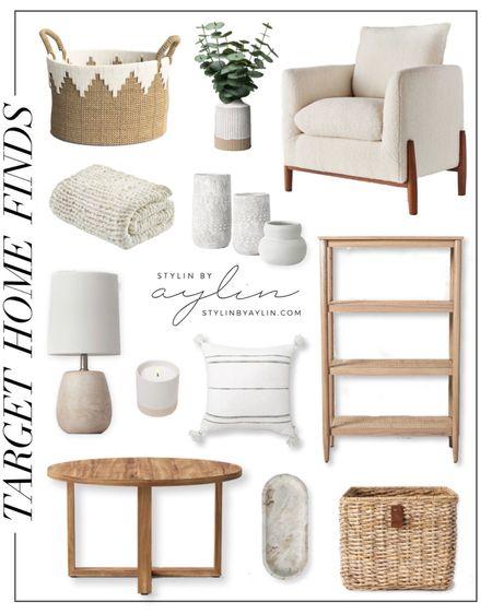 Target home finds, target home decor, target finds, living room home decor, living room style, neutral home decor, simple home decor, StylinByAylinHome   #LTKstyletip #LTKhome #LTKunder100