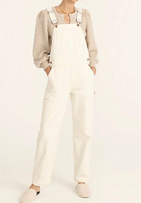 Ivory linen overalls   #LTKSeasonal #LTKsalealert #LTKstyletip