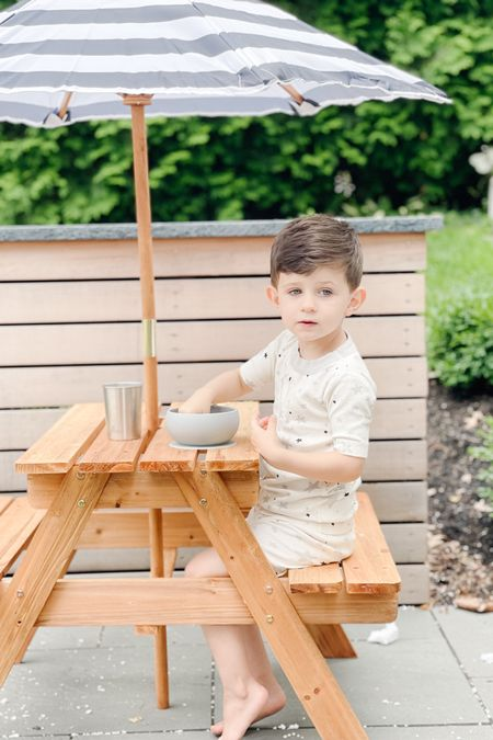 The cutest little picnic table #kidsstuff #kidsoutdoortable #amazonfinds #picnictable #outdoors http://liketk.it/3jWUB #liketkit @liketoknow.it #ltkkids