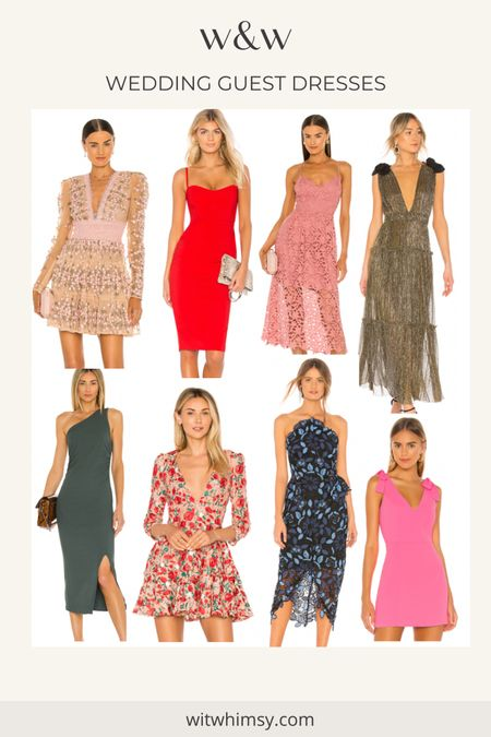 What to wear to weddings this summer! Some favorite wedding guest dresses from Revolve @liketoknow.it http://liketk.it/3h0gw #liketkit