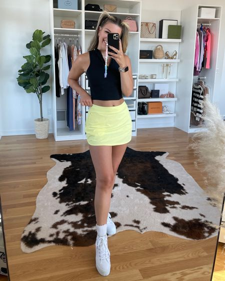 Today's workout set golf outfit Lululemon zip crop top skort workout skirt  http://liketk.it/3hNuX #liketkit @liketoknow.it #LTKstyletip #LTKfit #LTKcurves