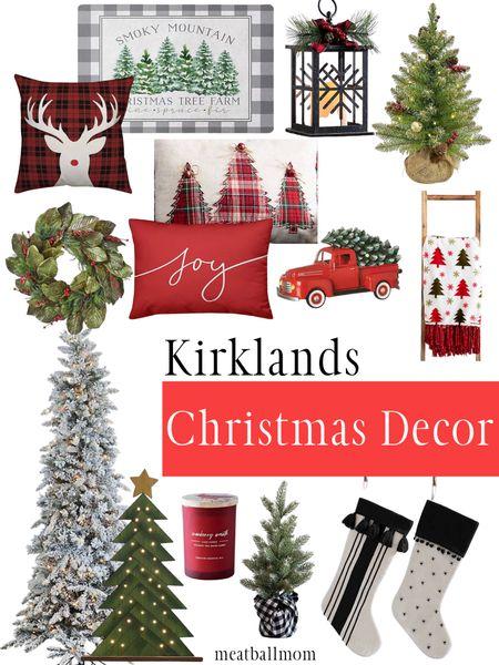 Christmas decor from Kirklands                   #ltkunder100 #ltkstyletip #ltkholidaystyle Christmas decorations, Christmas decor, Christmas trees, pillows, signs  #LTKFall #LTKunder50 #StayHomeWithLTK http://liketk.it/2Zq3O #liketkit @liketoknow.it