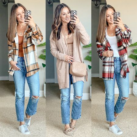 Fall outfits • Amazon fall fashion - Last weeks top sellers from my blog and social channels! Fall Shackets were a top seller! This cozy cardigan and the sweaters are perfect for fall! Save 15% on my bracelets code HOLLY15 Fall style • fall outfits • fall fashion • shacket • cardigan • sweaters • sweater weather    #LTKstyletip #LTKsalealert #LTKunder50