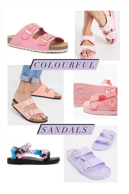 #liketkit @liketoknow.it http://liketk.it/3gVM4 #LTKshoecrush #LTKunder50 pink lilac colourful summer sandals. Arizona love, Jones Bootmaker. Birkenstocks