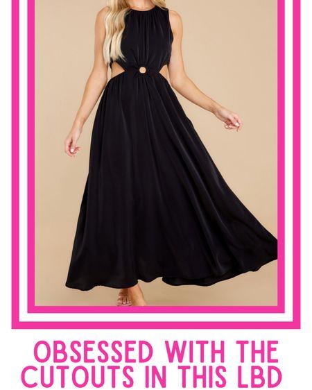 Black maxi dress, cut out dress, cut out maxi dress  http://liketk.it/3k5cs @liketoknow.it #liketkit