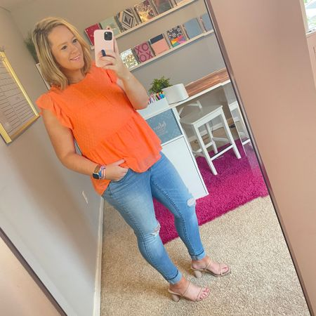 It's amazing how a bit of a tan and a neon shirt brightens up my day! 🧡☀️ 🧡 http://liketk.it/3e7IK @liketoknow.it #liketkit #LTKcurves