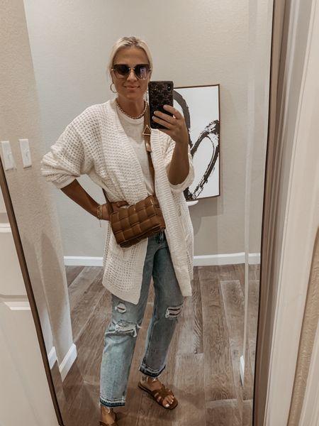 Summer casual outfit Transitional summer to fall outfit Cool summer nights outfit Airport outfit  Amazon cardigan, Target tank, Express jeans, Shein Sandals, Bottega Veneta bag dupe          _______ #amazon #amazonfinds #amazonfashionfinds #amazonfashion #amazonstyle #amazondeals #founditonamazon #amazoninfluencer #amazonshoes #express Comfy and casual options  #beachvacation #bikini #vacationoutfits #springfashion #vacay #vacaylook #vacalooks #vacationoutfit #springoutfit #springoutfits #beachvacationoutfit #beachvacationoutfits #springbreakoutfit #springbreakoutfits #beachoutfit #beachlook #beachdresses #vacation #vacationbeach #vacationfinds #vacationfind #vacationlooks #swim #springlooks #summer #summerlooks #swimsuitcoverup #beachoutfits #beachootd #beachoutfitinspo #vacayoutfits #vacayoutfitinspo #vacationoutfitinspo #tote #beachbagtote #naturaltote #strawbag #strawbags #sandals #bowsandals #whitesandals #resortdress #resortdresses #resortstyle #resortwear #resortoutfit #resortoutfits #beachlooks #beachlookscasual #springoutfitcasual #springoutfitscasual #beachstyle #beachfashion #beachvacay #vacationfashion #vacationstyle #swimwear #swimcover #summerfashion #targetstyle #targetdresses #targetdress #targetoutfits #Leeannbenjamin #stylinbyaylin #cellajaneblog #lornaluxe #lucyswhims #amazonfinds #walmartfinds #interiorsesignerella #lolariostyle    Follow my shop on the @shop.LTK app to shop this post and get my exclusive app-only content!  #liketkit #LTKunder50 #LTKsalealert #LTKstyletip @shop.ltk http://liketk.it/3kpG1