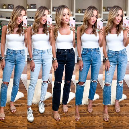 Jeans are all 30% off size 24 short bodysuit size Xs   #LTKsalealert #LTKunder50 #LTKunder100