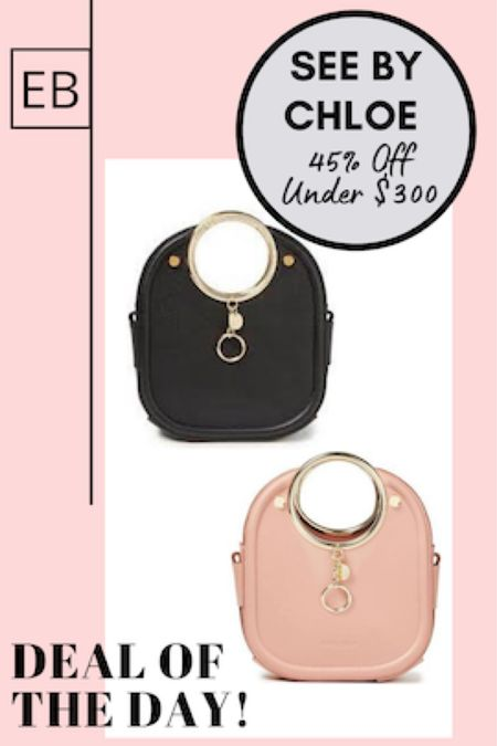 So many See By Chloe bags on sale.  Linked some of my favorites.  http://liketk.it/3gPzh #liketkit @liketoknow.it #LTKworkwear #LTKsalealert #LTKitbag Follow me on the LIKEtoKNOW.it shopping app to get the product details