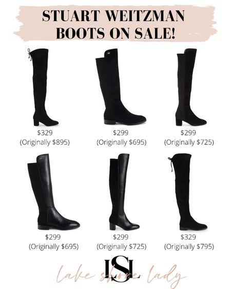 Stuart Weitzman boots on sale! Knee high boots and over the knee boots for over 50% off 😱   #LTKSeasonal #LTKsalealert