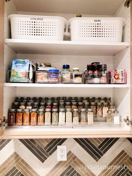 Shop this spice cabinet look organized by Reset Your Nest! http://liketk.it/3jfv4 @liketoknow.it #liketkit #LTKunder100 #LTKunder50 #LTKhome #LTKfamily #ltkkitchen @liketoknow.it.home @liketoknow.it.family #ltkorganized